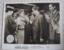 Goodbye Mr Chips, MGM FOH Still, Robert Donat, Greer Garson, '39 a